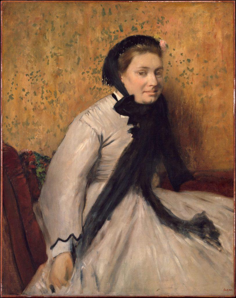 ЭДГАР ДЕГА, «ПОРТРЕТ ЖЕНЩИНЫ В СЕРОМ» , 1865 ГОД
