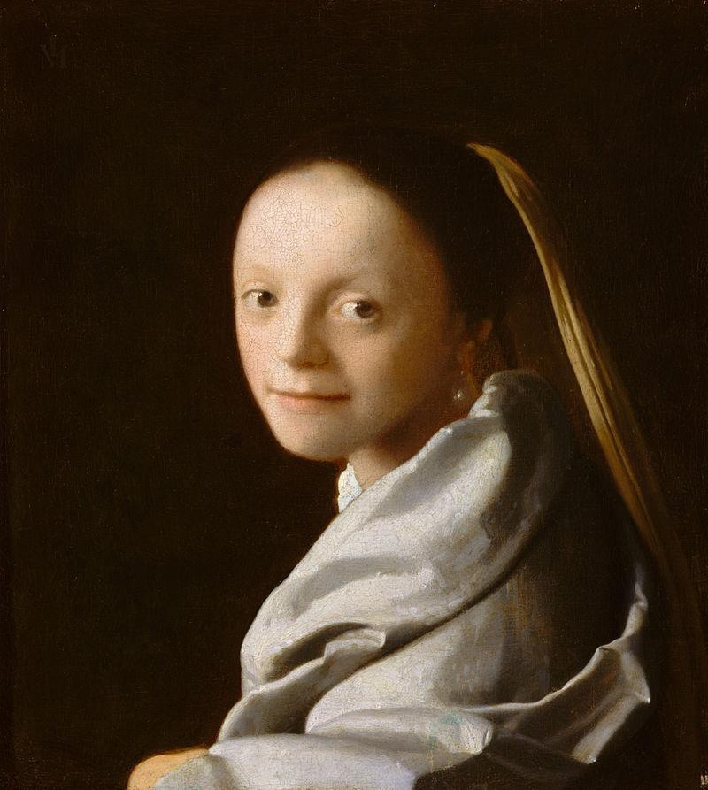 ЯН ВЕРМЕЕР, «ПОРТРЕТ МОЛОДОЙ ДЕВУШКИ», 1666-1667 ГОДЫ